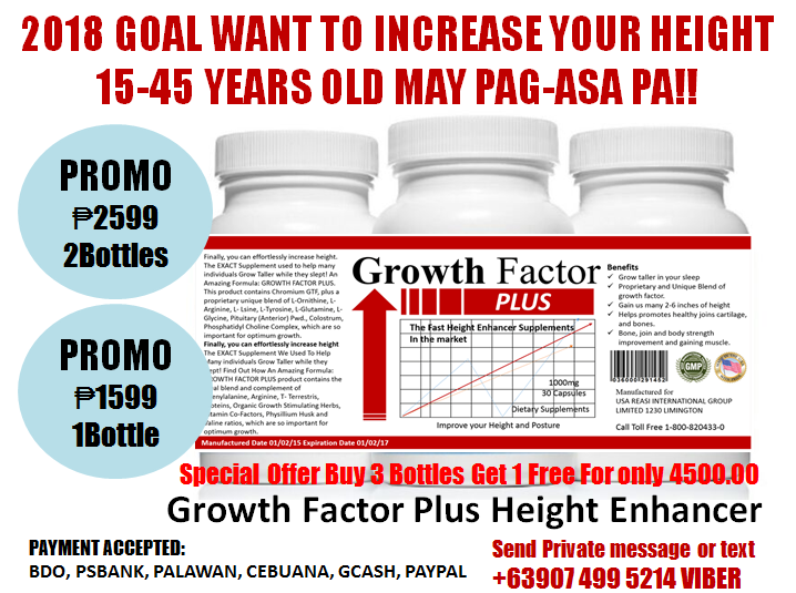 NEWLY IMPROVED GROWTH FACTOR PLUS HEIGHT ENHANCER 15-45