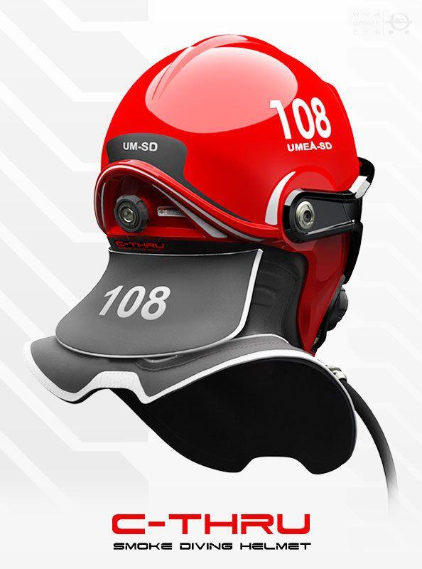 C-Thru, concept de casque de pompier ultra futuriste