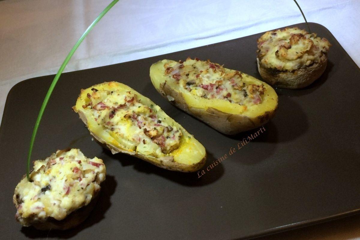 Petits farcis d'hiver : pommes de terre et champignons