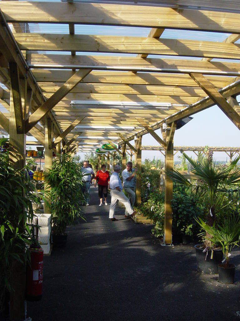 Auvent et passage couvert bois de jardin - Salon de jardin couvert ...