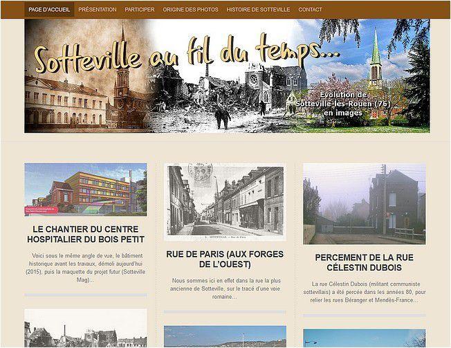 Un nouveau blog : &quot&#x3B;Sotteville au fil du temps...&quot&#x3B;