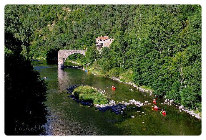 Le pont cassé de La Muse - Canoës sur le Tarn