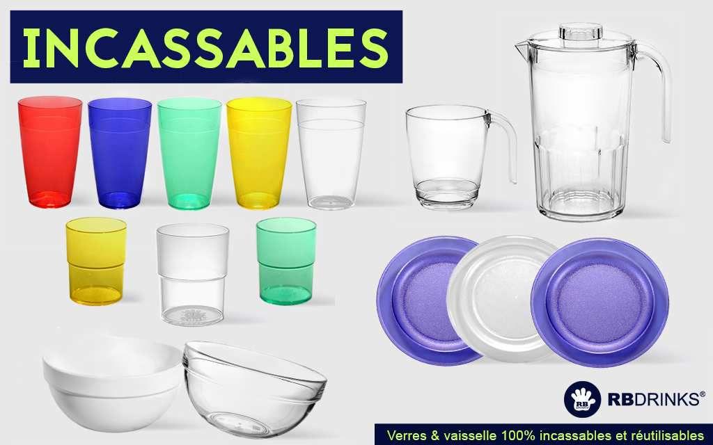 Verres & Vaisselle Incassables RBDRINKS®
