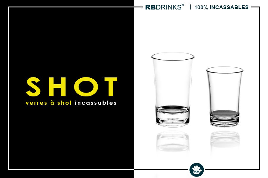 Verres à shot incassables