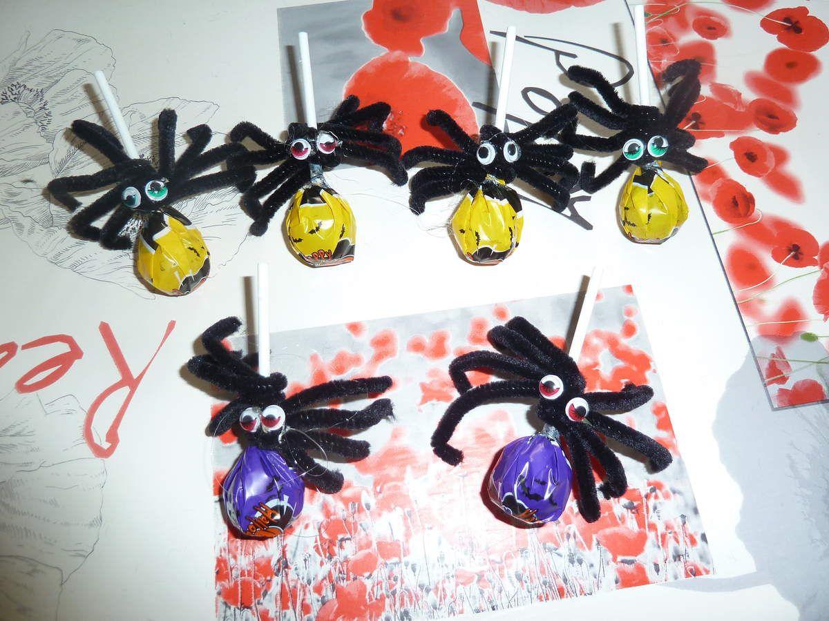 mes araignées et le détail pour les faire