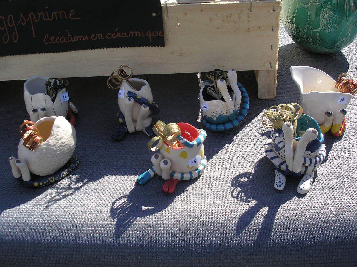 Photos du stand au marché de Trégastel