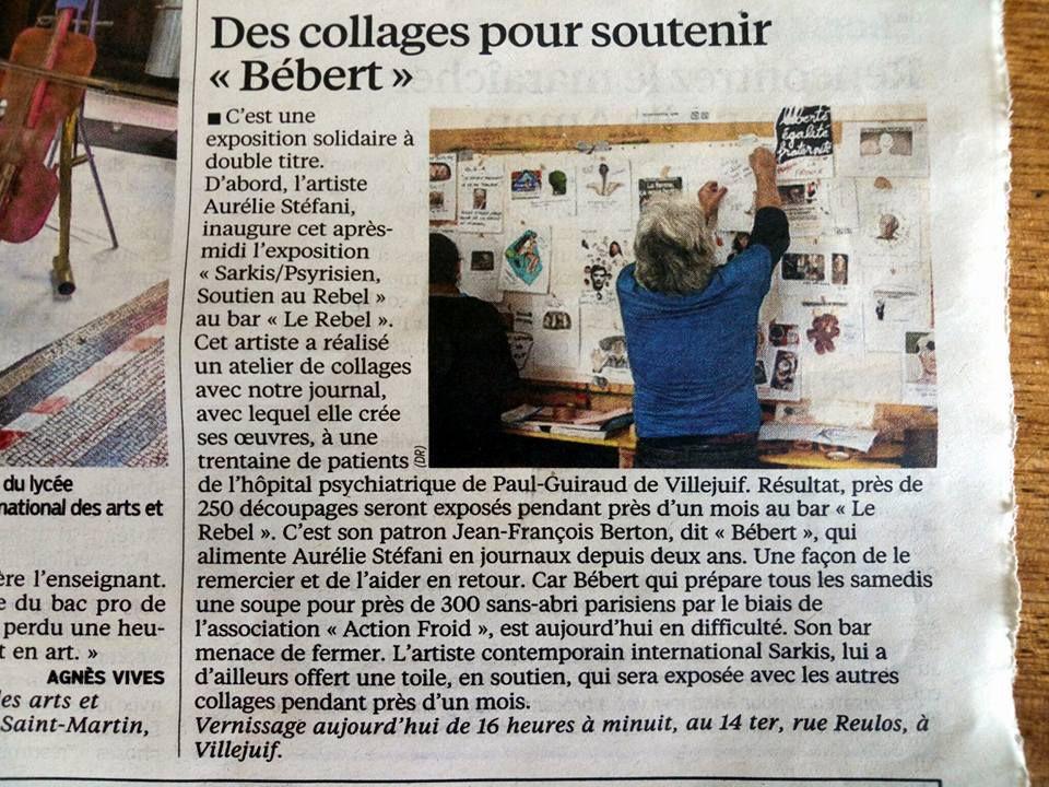 """Des collages pour soutenir &quot&#x3B;Bébert"""""""
