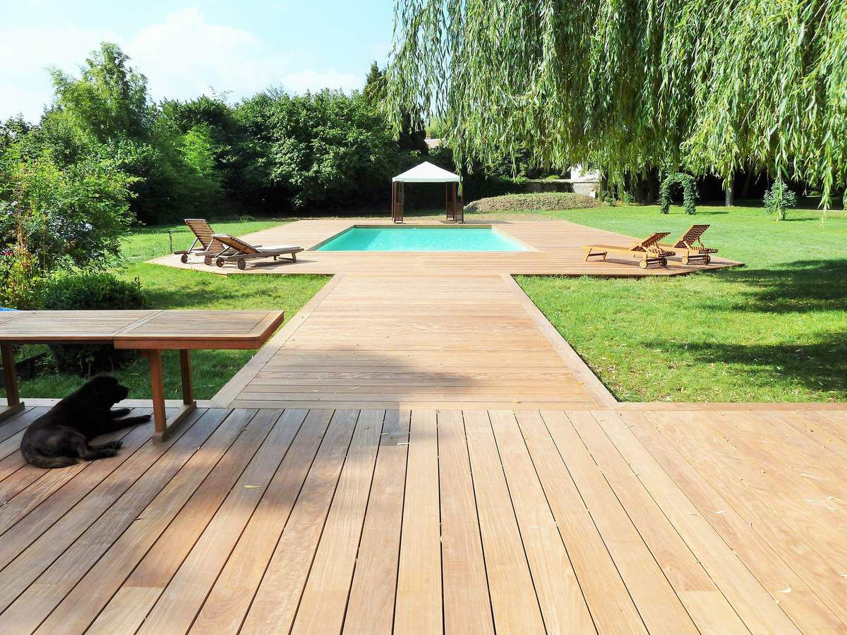 Terrasse en bois 78 terrasse en ipe extra large france for Photo de terrasse