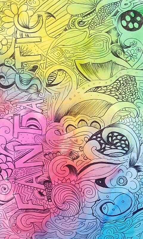 Aquarelle et stylo bille!
