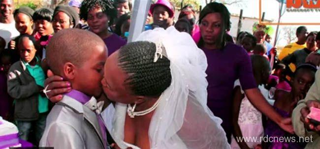 Mariage entre une dame de 62 et un gamin de