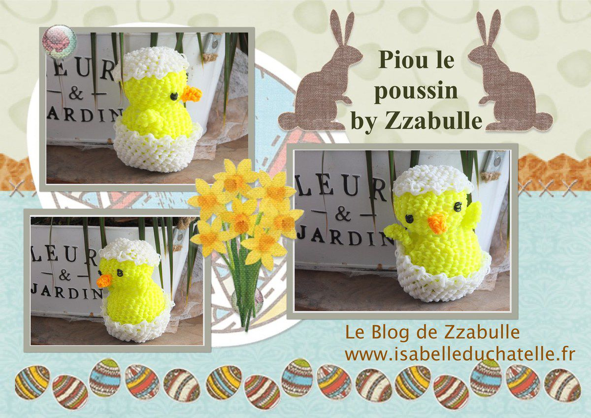 Easter chick - Piou le poussin loomigurumi
