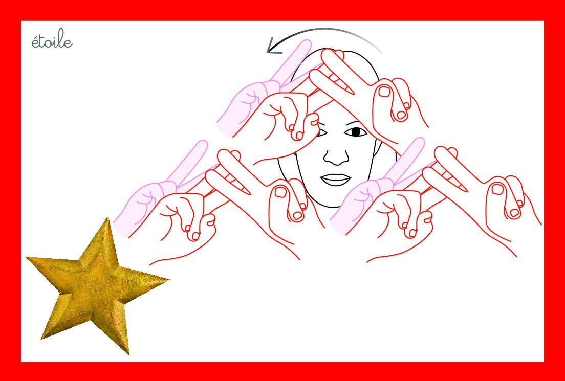 6 - calendrier de l'avent - étoile LSF