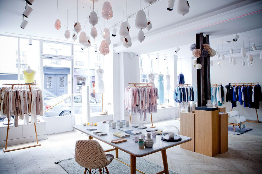 Design int rieur d 39 une boutique paris studio janr ji pour marie sixti - Magasin de pierre paris ...