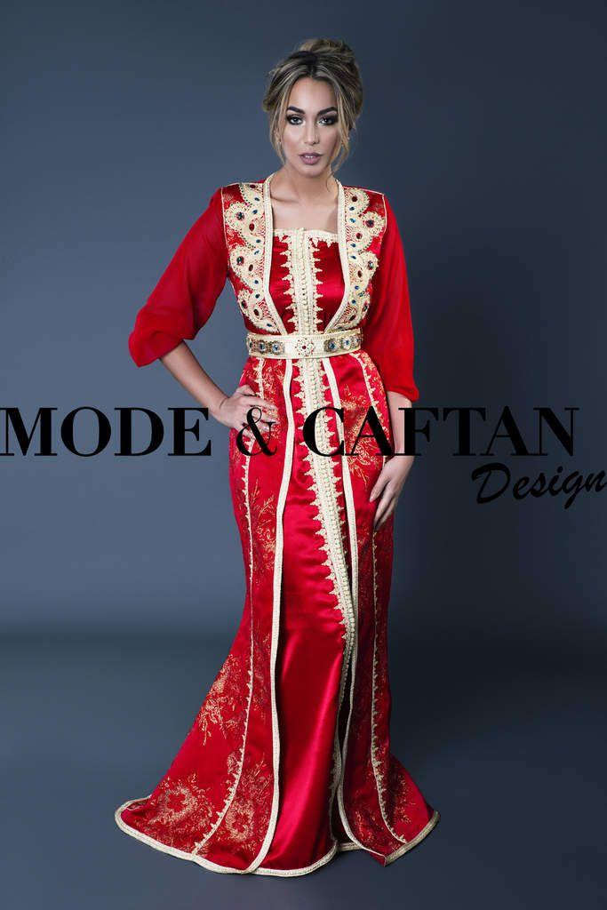 Robe De Soiree Orientale Rouge Mariage Et Fiancailles Ou