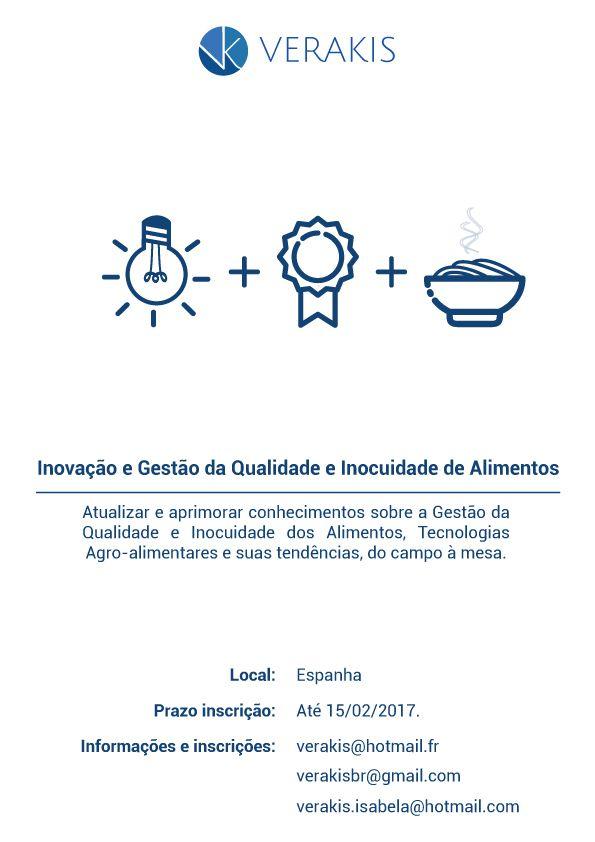 Inovação e Gestão da Qualidade de Alimentos - Madrid 2017