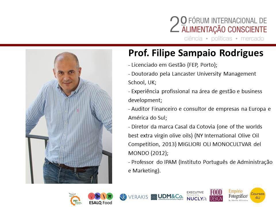Prof. Filipe Sampaio - 2º Forum Internacional da Alimentação Consciente.