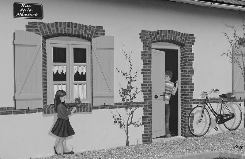 Biville-sur-Mer (76) : façade en trompe-l'oeil