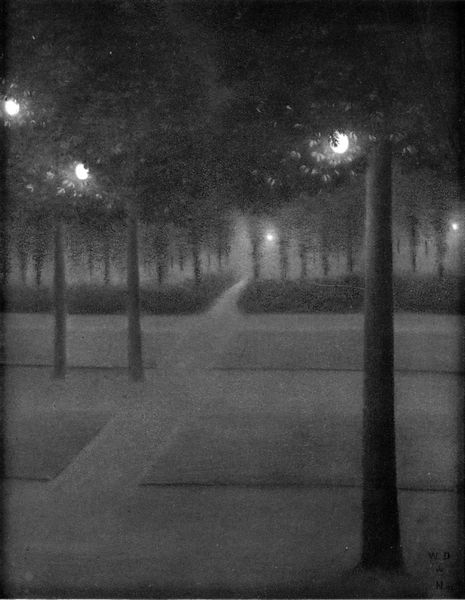 William Degouve de Nuncques, Nocturne du parc royal (Brussels,1897)