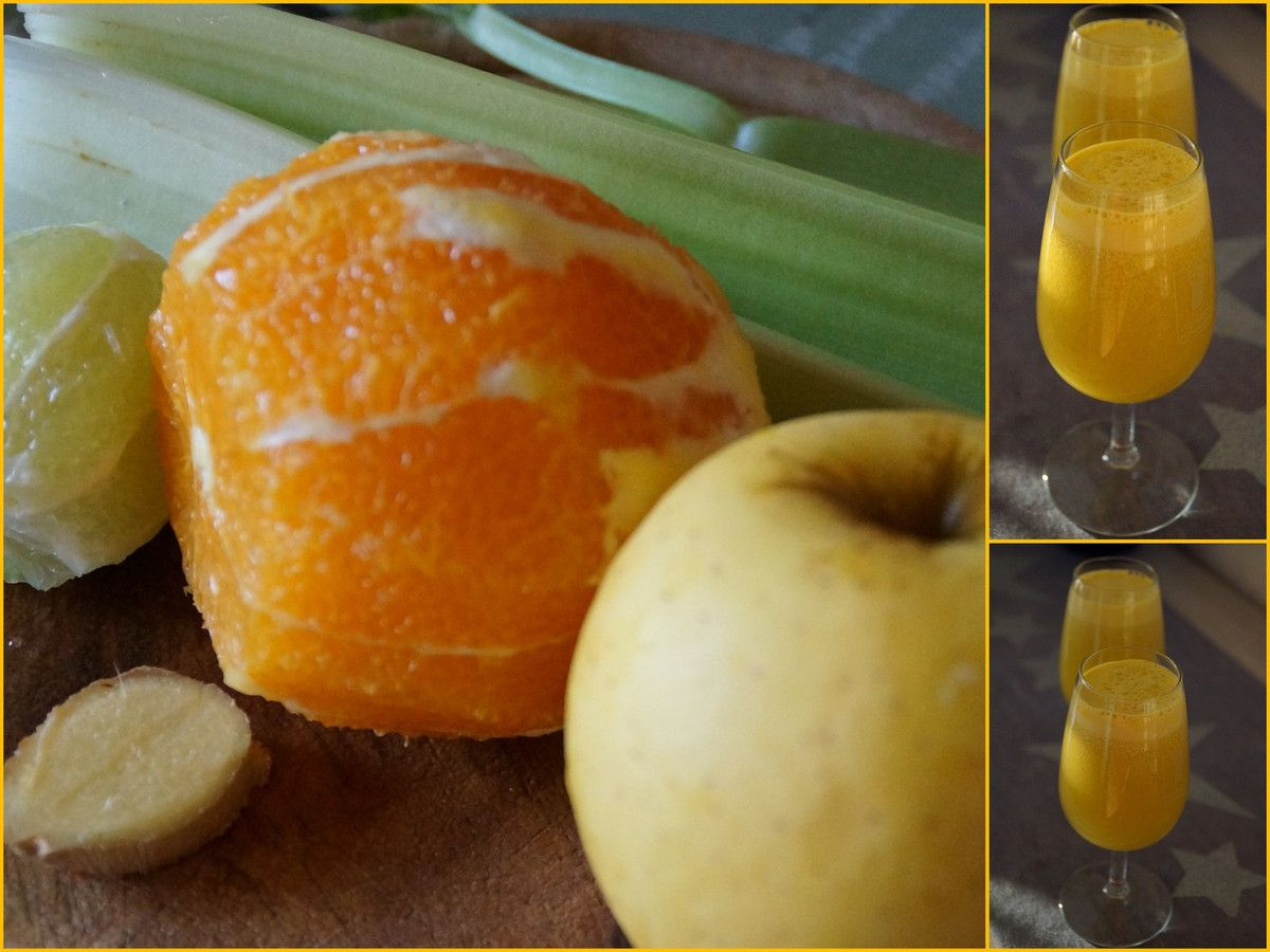 jus c l ri citron vert orange gingembre pomme la cuisine quotidienne. Black Bedroom Furniture Sets. Home Design Ideas