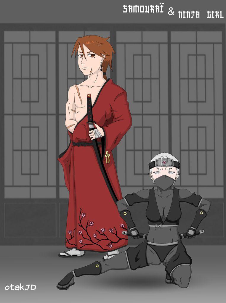 samouraï_and_ninja_color