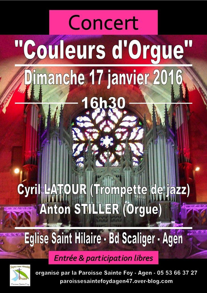 Concert  &quot&#x3B;Couleurs d'Orgue&quot&#x3B;