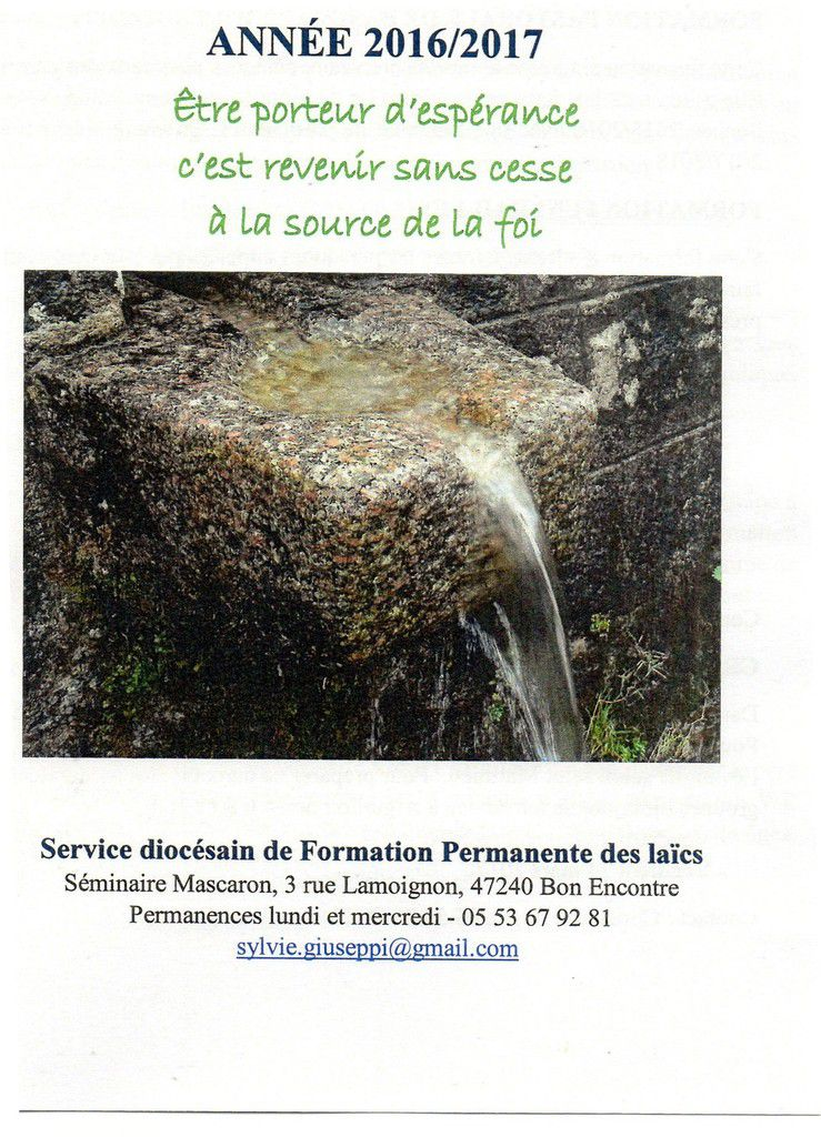 Formations Diocésaines 2016/2017
