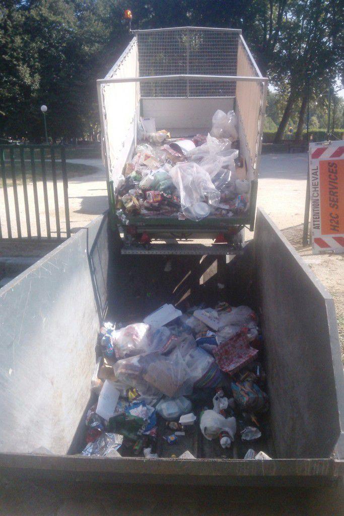 Collecte hippomobile à Grenoble - juillet 2015