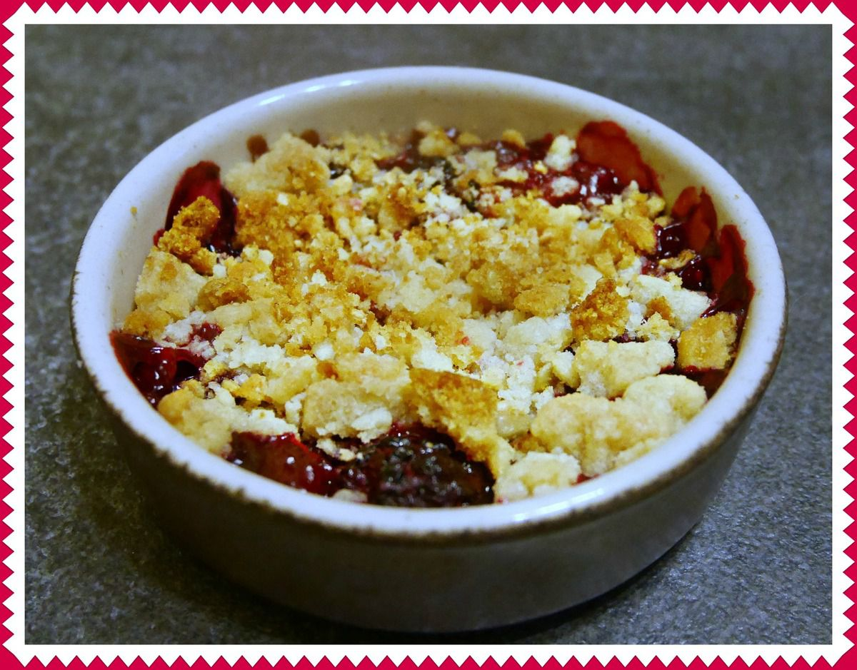 Le crumble aux fruits rouges minute !