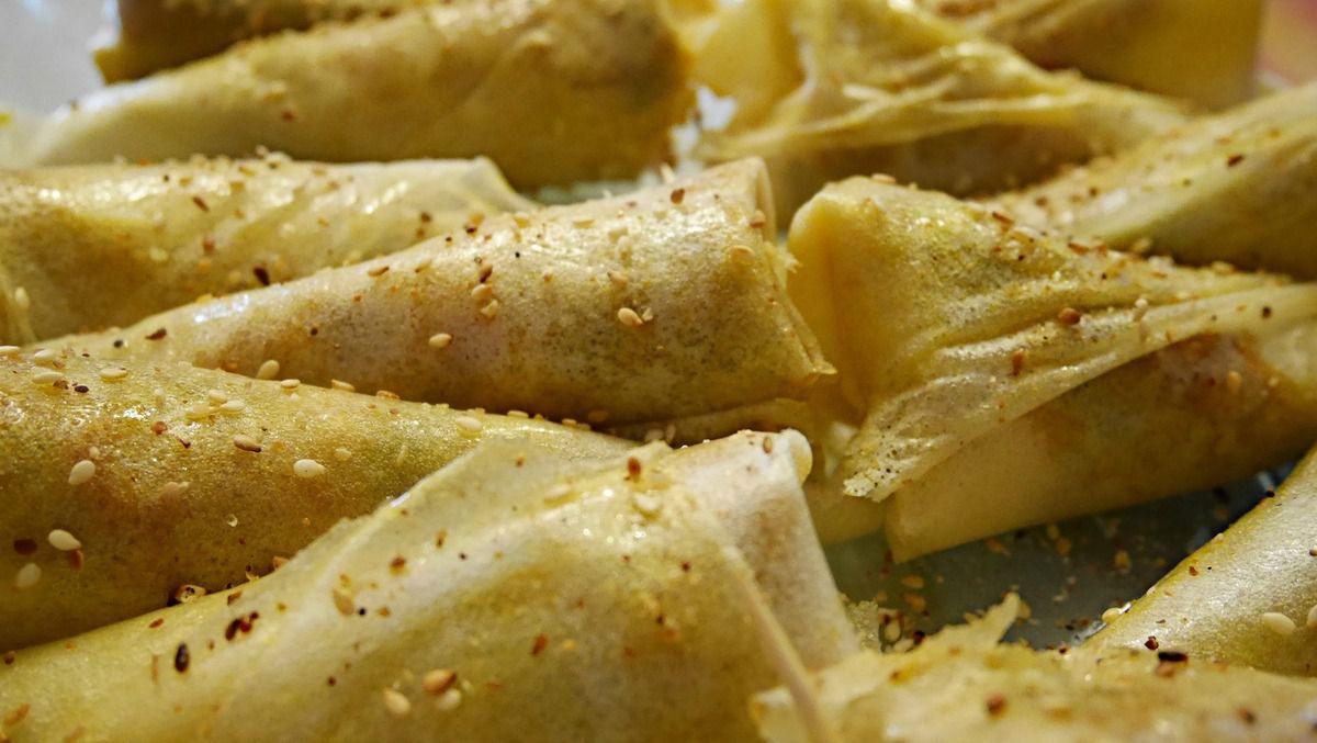 Cornets végétariens poivrons-pommes de terre