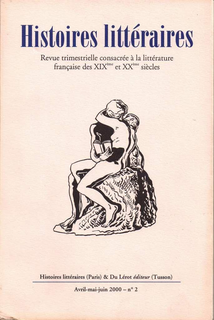 Dossiers Renée Dunan dans Histoires littéraires n°2 (avril-mai-juin 2000)