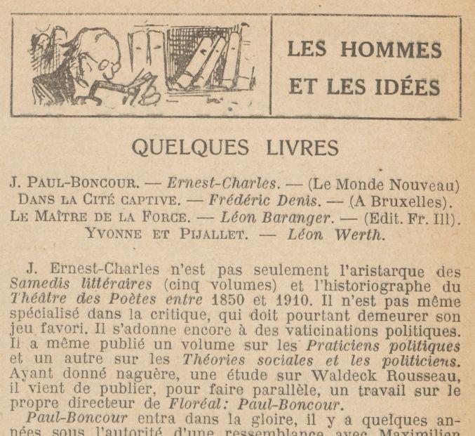 "Chiquita ""Quelques livres"" (1921)"