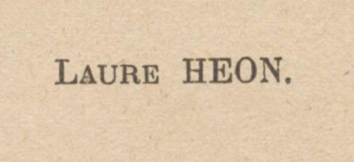 Bibliographie : Laure Héon