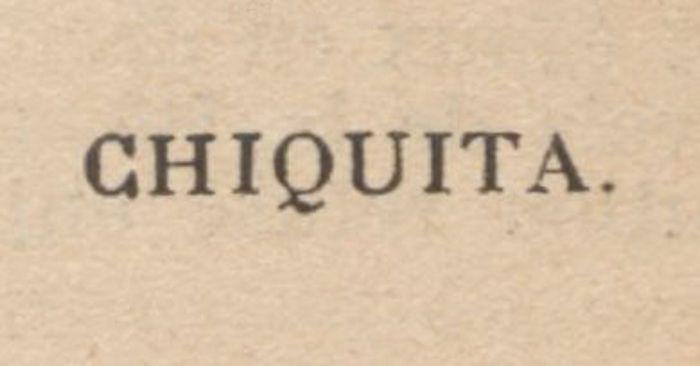 Bibliographie : Chiquita