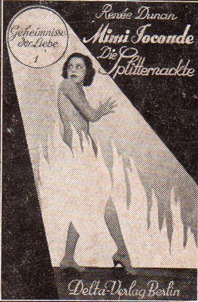 "[Allemagne] Renée Dunan ""Mimi Joconde, die Splitternackte"" (Delta-Verlag - 1931) [Version cartonnée]"