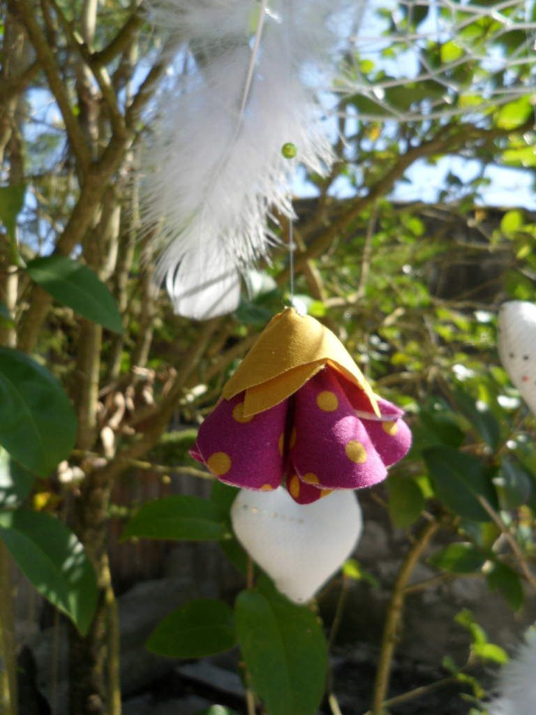 Mobile attrape rêve, fleurie