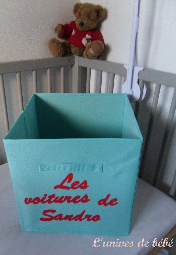 panier ou cube de rangement enfant personnalisable - l'univers de bébé