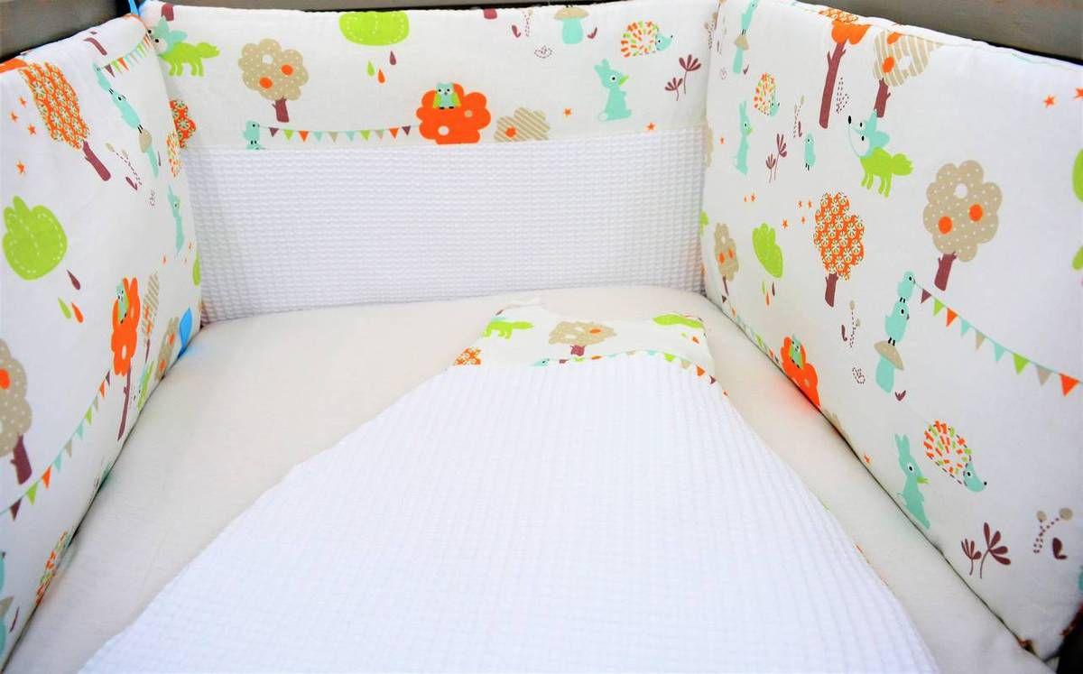 ensemble tour de lit et gigoteuse 0 6 mois animaux de la for t l 39 univers de b b cr ation. Black Bedroom Furniture Sets. Home Design Ideas