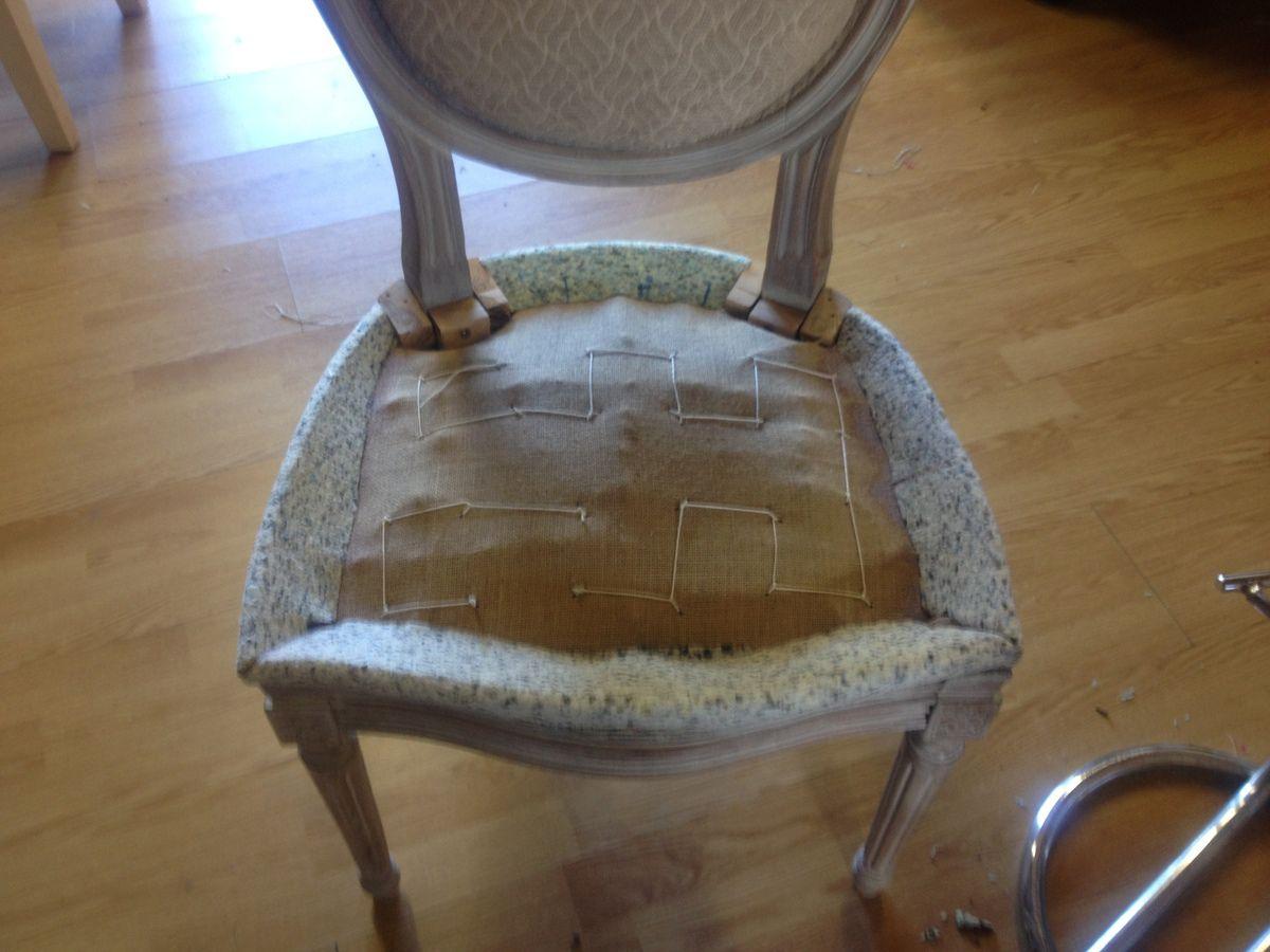 Lachaise medaillon louis xvi mon atelier brico - Carcasse de fauteuil a restaurer ...