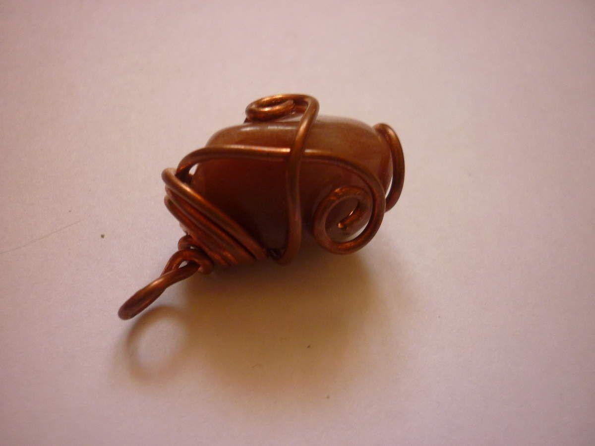 Pendentif Pomme de Reinette (Jaspe brun) - Vendu