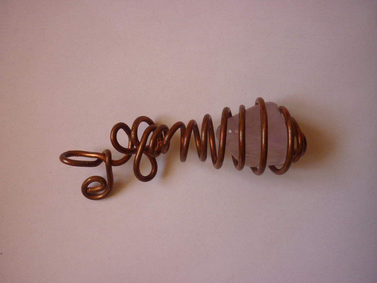 Pendentif Spiral / Quartz rose - Vendu