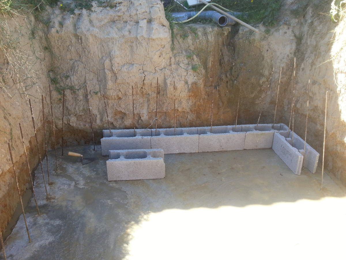 Ferraillage bloc a bancher construction de piscine sur fr for Construction piscine bloc a bancher