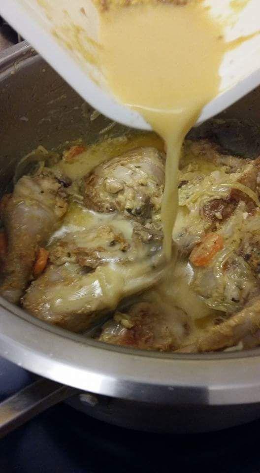 Mon poulet à la moutarde