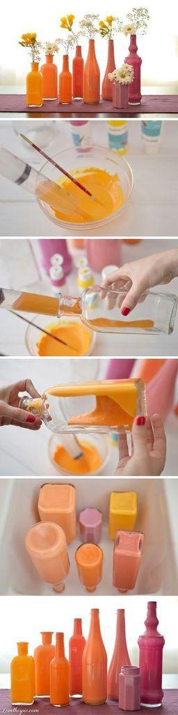 Colorer des bouteilles.