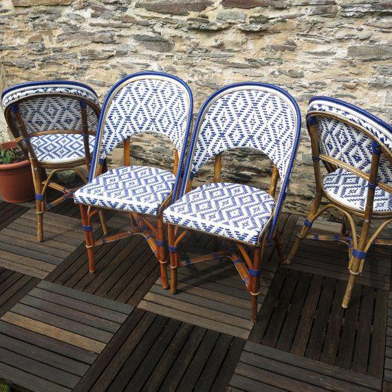Chaises de bistrot en rotin - 130euros - LaMetisse sur Etsy