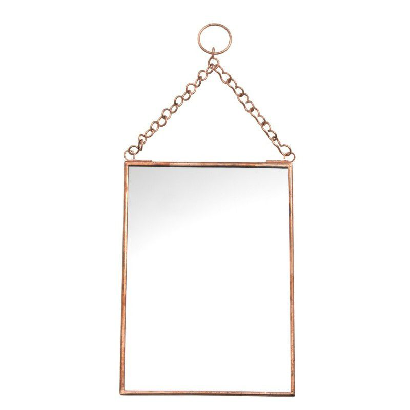 Miroir en métal cuivre - Madam Stoltz - 8,90 - Twicy