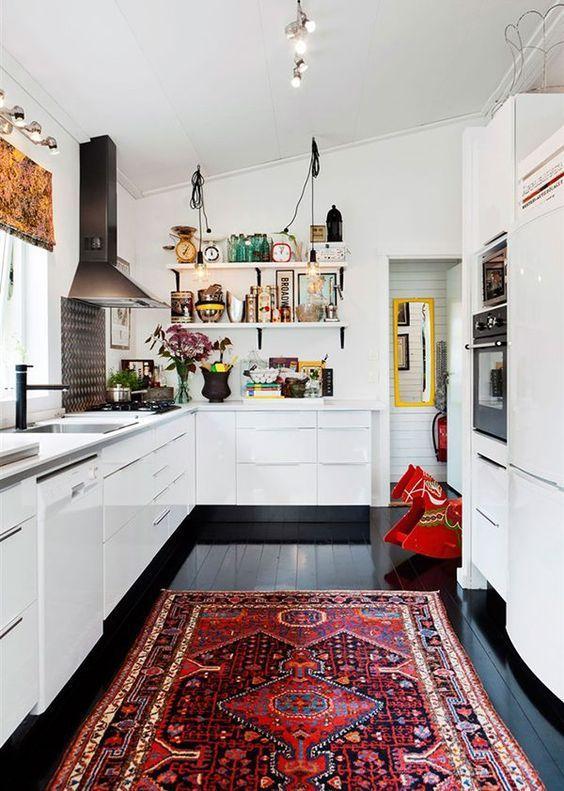 Inspirations: Un tapis dans une cuisine