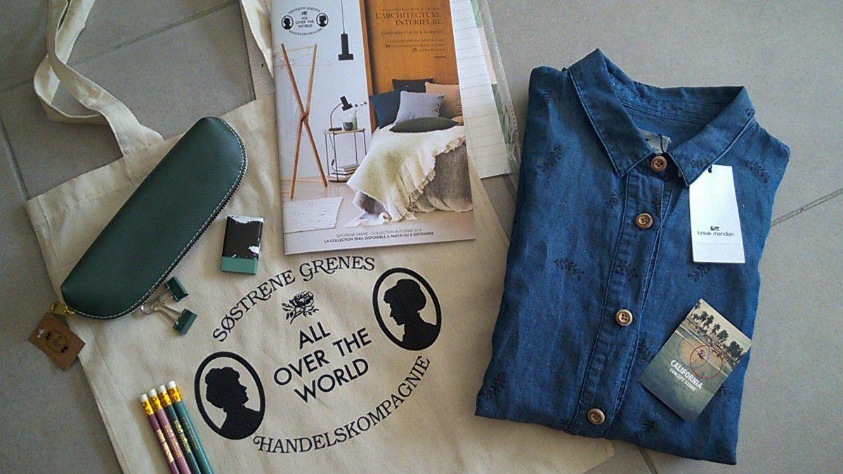 Accessoires déco Sostrene Grenes et chemise Loreak Mendian chez House Of California.