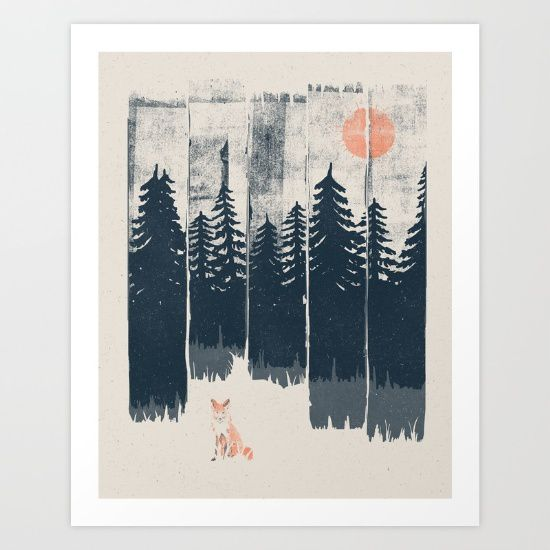 Affiche - A fox in the wild - NDTank - Society 6 - Environ 17 euros