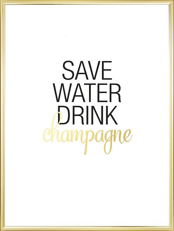 Affiche - Save water Gold - Via Desino - 17 euros