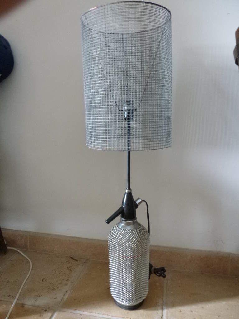 Très lampe composée d un syphon et de grillage ht 80cm n95 - artgile SV36